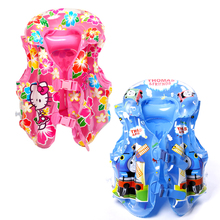 C125 Free shipping inflatable lifejacket swimming vest cartoon images of children's products(China)