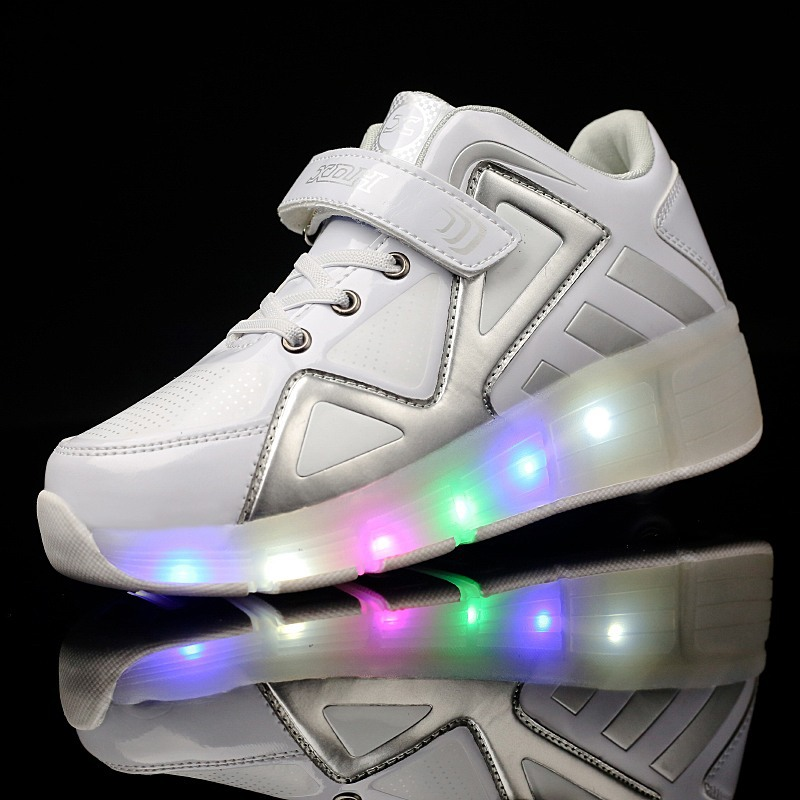 New Childrens Sport Roller Childrens Led Light Single-wheeled Walking Shoes High-cut Boys and Girls Childrens Skates Shoes<br>