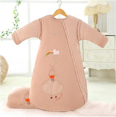 BabyNew Sleeping Bag Childrens Cartoon Hyacinth Romper Child Winter Thick Warm Hug Piece Pajamas<br>
