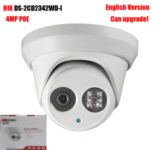 English version 4MP IP Camera DS-2CD2342WD-I 2.8mm lens WDR EXIR Turret Network cctv Camera POE can upgrade IR LED dome camera