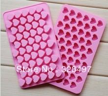 Free shipping silicone cake Chocolate Mold Jelly Mold Cake Moulds Bake ware 55pcs heart love D038