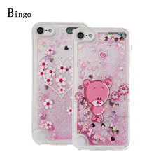 Soft TPU Cases For Fundas Apple iPod Touch 5 6 case For iPod Touch 6 5 Glitter Bling Liquid Sand quicksand Clear Silicone Cover
