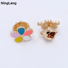 NingLang Fashion Jewelry Brooch 5Pcs/Lot Flower Brooch Handmade Brooches For Women Lapel Pin For Suits Modern Corsage(China)