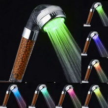 Romantic Automatic Negative Ions Anion LED Light Shower Head 7Colors Change