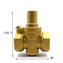 "1-1/4"" BSP Female Thread Brass Pressure Reducing Valve For Water Gas Length 81mm(China)"