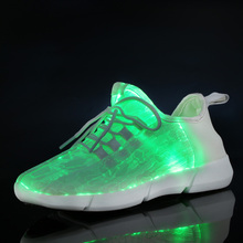 Fiber Optic Led Shoes for Kids Boys Girls Light Up Shoes USB charging 7 color Flashing Luminious Sneakers Lightweight Trainers(China)