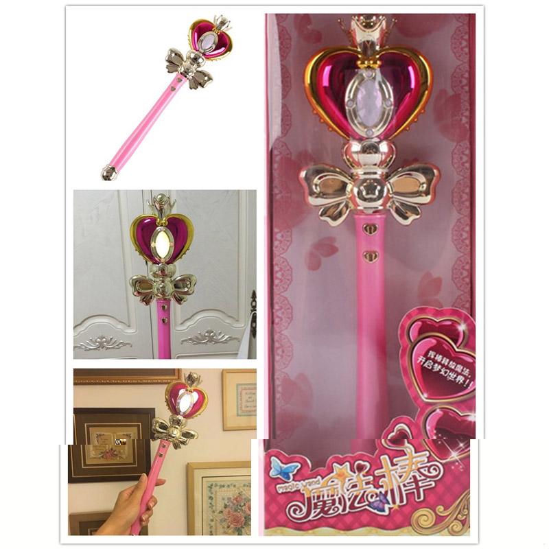 Anime Cosplay Sailor Moon 20th Tsukino Usagi Wand Henshin Rod Glow Stick Spiral Heart Moon Rod Musical Magic Wand Girl Toys (1)