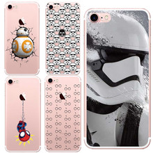 Marvel Hero Captain America Design Case Cover For Apple iPhone 5 5S SE 6 6S 6Plus 7 7Plus Star Wars The Force Awakens Bb-8 R2D2(China)