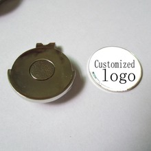 100pcs/lot high quality metal golf hat clip with customized logo removable magnet ball marker