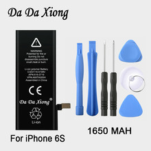 100% original Brand Da Da Xiong 1650mAh Genuine Li-ion Mobile Phone Accessory Replacement Battery Pack for iPhone 6S