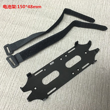 Realistic 1/10 Crawler Matel Car Battery Mounting Plate w/ 2 pcs battery  straps FOR Axial SCX10