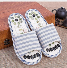 Cobblestone Foot Massage Slippers Massages Acupuncture Health Shoes Sandals Slippers Healthy Massager Foot Care(China)