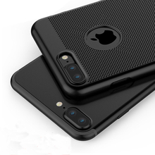 Ultra Thin Cover Case For iPhone 7 7 Plus Breathable Cell Phone 2017 New Phone Cases For iPhone 6 6s Plus(China)