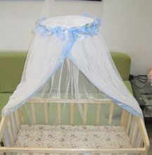 Summer Mosquito Net For Toddler Crib Infant Baby Cot Bed Accessories Newborn Protect Cute Shape Baby Favor Durable Blue Yellow
