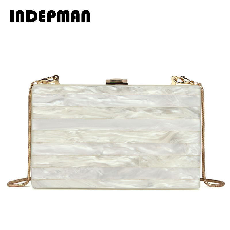 Brand Women Bag Splice Striped Acrylic Box Day Clutch Colorful Acrylic Evening Bag Fashion Clutch Ladies Messenger Bags Beige <br>