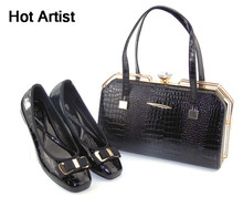 Hot Artist High Quality Summer Elegant Woman Shoes And Bag Set African Leisure Shoes And Handbag Set For Wedding Party TYS17-44