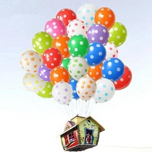 Best Quality Polka Dot Balloons 12Inch 3.2g 50pcs/lot Latex Balloon Celebration Birthday Party Decorative Pet Balloon Toys(China)
