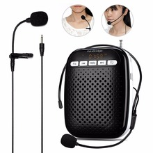 WinBridge Voice Amplifier with Headset Microphone and Lavalier Microphone Waist-Band Portable Rechargeable PA System Speaker(China)