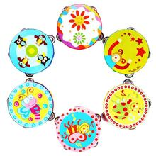 Fun Colorful New Kid New Gift Jingle Percussion Hand Bell Tambourine Musical Instrument Toy Levert Dropship Aug10(China)
