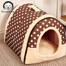 Cute Dog Bed Pet Bed Warm Soft Dogs Kennel Dog House Pet Sleeping Bag Cat Bed Cat House Cama Perro DC0051
