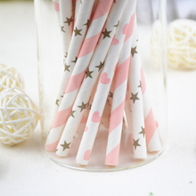100pcs(4bags)Mixed Striped Mixed Kids Birthday Wedding Decorative Party Decoration Event Supplies Drinking Paper Straws(China)