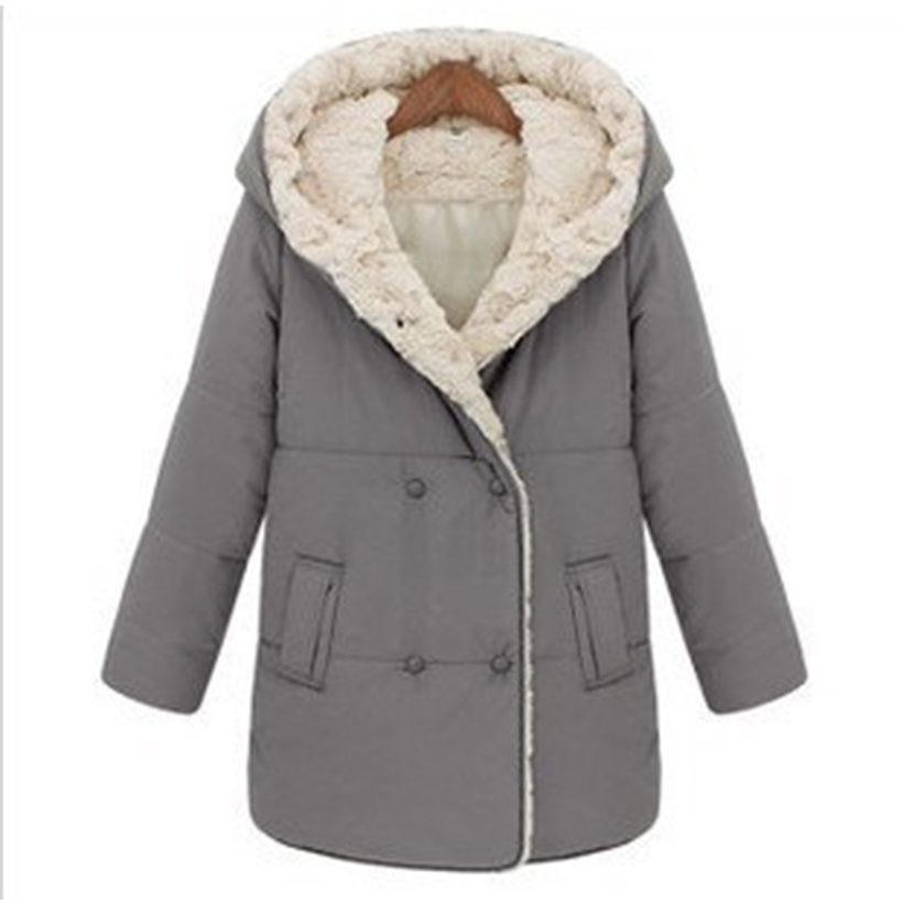 Hot Sales Solid Gray Pockets Double Breasted Winter Women Down &amp; Parka Female Jackets 96% Cotton Down Slim Lady JacketsОдежда и ак�е��уары<br><br><br>Aliexpress