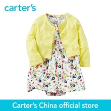 Carter's 2pcs baby children kids Yellow Bodysuit Dress Sets 121H351,sold by Carter's China official store(China)