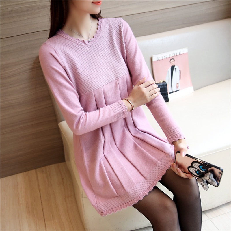 2017 new plus loose knitted maternity sweaters and pullovers clothes for pregnant women pregnancy clothing<br><br>Aliexpress