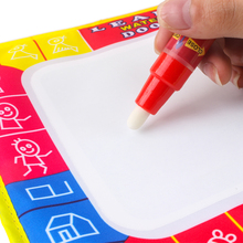 29X19CM Children Painting Board Water Drawing Aqua Doodle Cloth Drawing board & Magic Pen Doodle Toy Gift Stencils