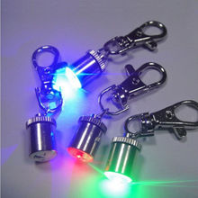 1Pc Cute Keychain Style Safety Flashing LED Light Pet Dog Collar Signal lamp Pendant Charms Pets Accessories