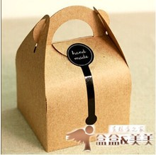 24 kraft Paper Cake Treat Box Macaron Gift Bakery Cookie Favor Cupcake Chocolate Packaging Box Christmas Wedding TB35