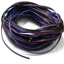 ZLinKJ 20m RGB LED Flexible Strip Light Extension Cable 4-Pin Line Cord Electrical Wire Safety(China)
