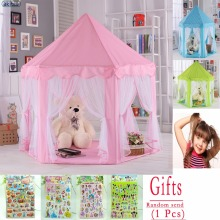 New 116 upgrades Six Korean Angle Princess Castle Gauze Tent House Girl Children Large Indoor Toy Game House Mosquito best gift(China)