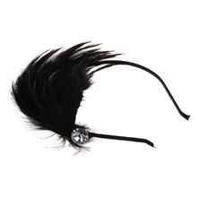 Black Feather Metal Headband Hair Band Fascinator Lady Fashion(China)