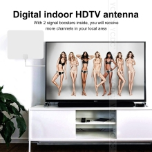 NEW HOT TV Antenna Indoor HD Digital TV Antenna with 80 Miles Long Range Amplifier HDTV Signal Booster Upgraded Version(China)