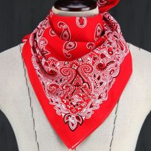 Spring Autumn Women Fashion Scarf Paisley Bandana HeadWrap Hair wrap Double Side Print Cotton Scarf Headband