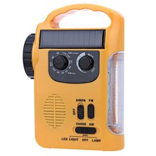 2017 Outdoor camping Solar Dynamo Powered AM FM Radio with Flashlight Emergency Lamp 1-200Lumens Battery Solar USB Flashlight