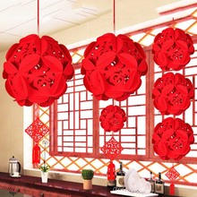 1pc Red Traditional Chinese Lanterns, Mini Layout Lantern For Festival/ Wedding/ Party Decorations(China)