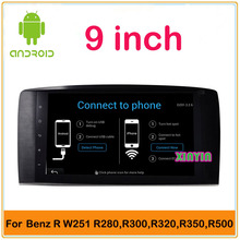 Android 4.4 Car DVD player Radio GPS WIFI For Mercedes Benz W251 R280 R300 R320 R350 2013 2012 2011 2010 2009 2008 2007 2006