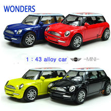 Mini Cooper Car Styling Alloy Kids Toys for Children Juguetes Brinquedos Para As Criancas Scale Models Pull Back toy