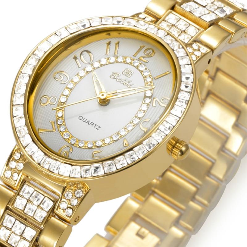 Belbi Relogio Feminino Clock Womens Watches Waterproof Stainless Steel Watches Ladies  Watch Quartz Wristwatch<br>