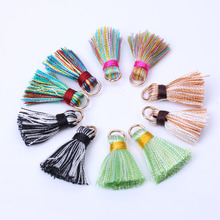 2cm Mini Silky Tassels Colorful Small Tassels for bohemia jewelry diy boho bracelet necklace making Supplies 10pcs/lot(China)