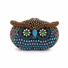 BL046 Luxury diamante evening bags colorful clutch bags women party purse  dinner bags crystal handbags gemstone wedding bags