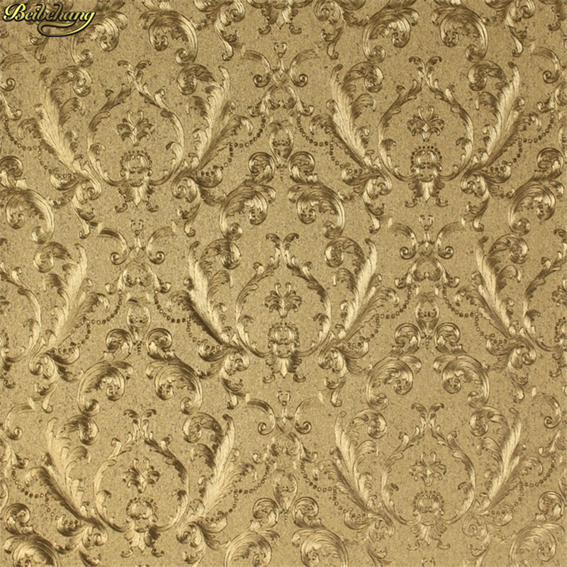 beibehang European - style wallpaper high - grade gold foil gold silver gold coffee wall paper background papel de parede<br>