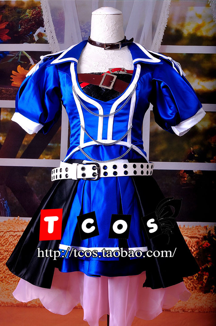 Free shipping! Newest! Vocaloid Meiko Blue Crystal Dress Cosplay Costume ,Perfect Custom For you!