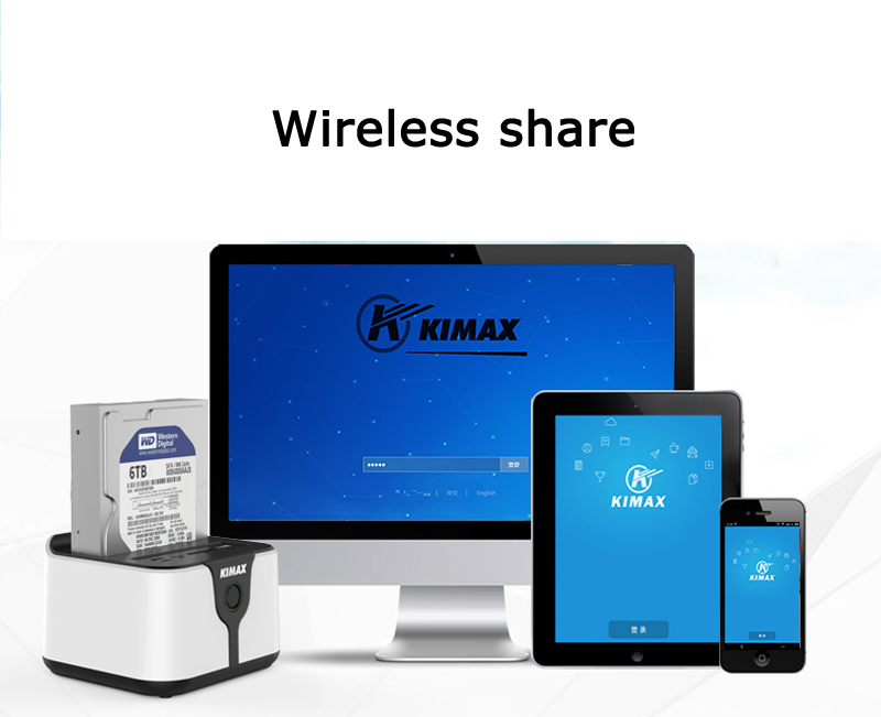 2.5 3.5 USB 3.0 to SATA HDD Docking Station with 300mbps wifi router function hdd box hard drive disk enclosure (4)