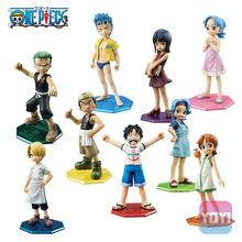 2015 hot sale new 12cm One Piece MH POP MILD childhood Nico Robin Nami Luffy Frankie Sauron Usopp action figure toys Wholesale