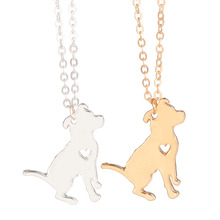Gold & silver 1pc Pit Bull Necklace Pitbull Jewelry Custom Dog Necklace Pendant Dog Jewelry Christmas Gifts  Pets New Puppy Gift