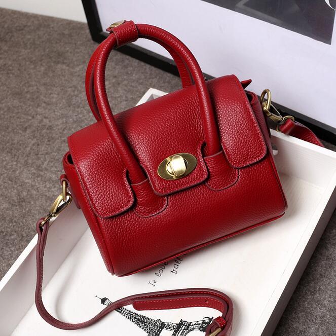 yesetn bag 111816 women geniune leather fashion small pillow single shoulder bag tote bag<br>