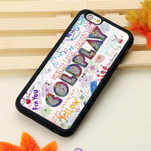 Popular Colorful Coldplay Printed Phone Cases OEM For iPhone 6 6S Plus 7 7 Plus 5 5S 5C SE 4S Soft Rubber Back Cover Shell OEM